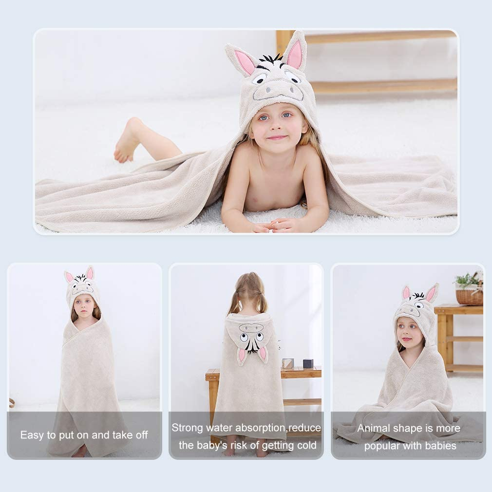 Perfect 115x70cm 0-7 Years COOKY.D Baby Bath Towels with Hood Large Size Animal Face Bathrobe for Boy and Girls