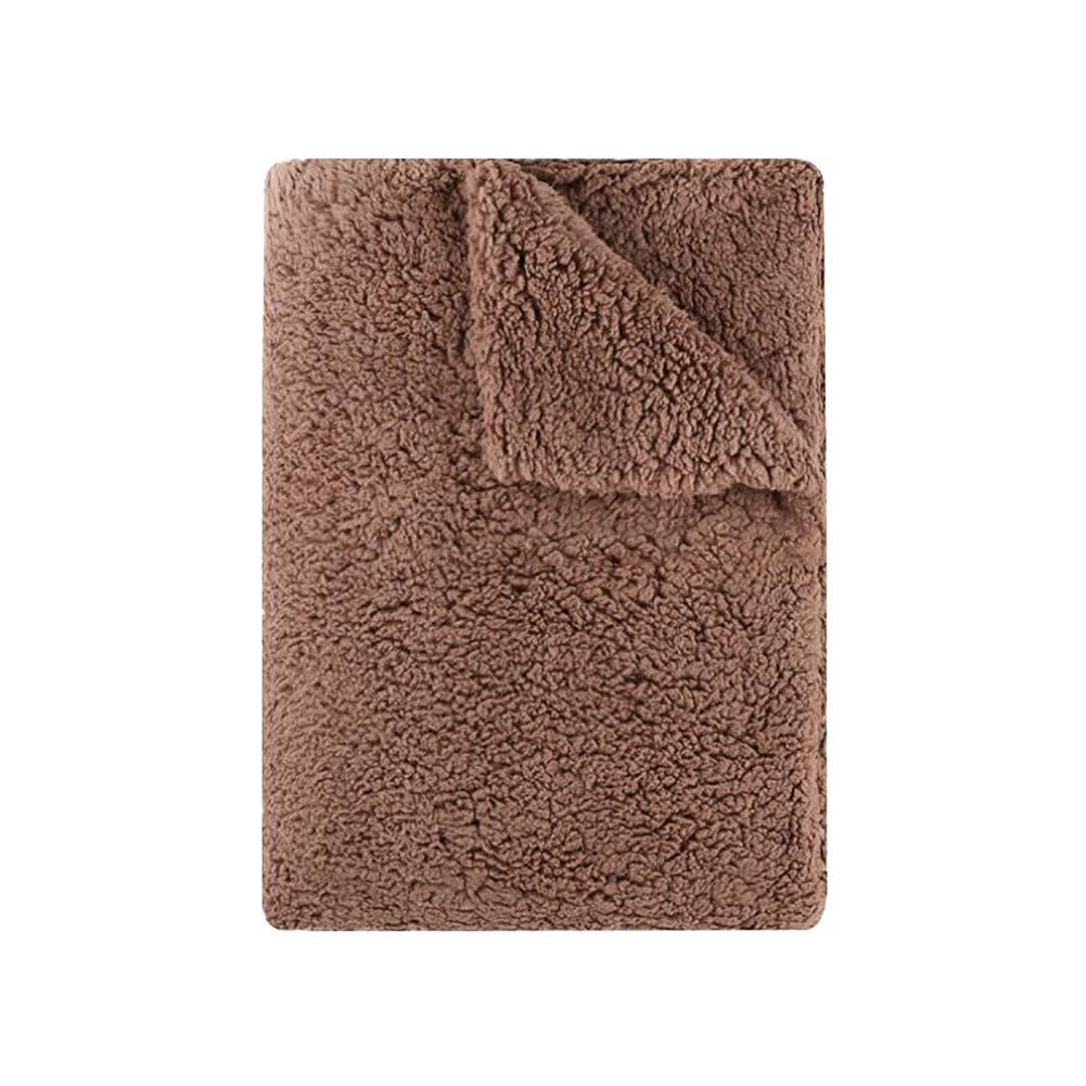 HSBAIS 寝具柔らかい暖かい冬毛布 - 小さい毛布赤ちゃん用フルクイーンキングサイズ大人のラムベベル厚手の贅沢な洗える暖かいシート軽量ベッドブランケット,brown_120*190cm B07K77VW82 Brown 120*190cm