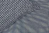 Thread Experiment Houndstooth Print Matte Sateen Sheet Set for Men, Slate Grey / White, Queen