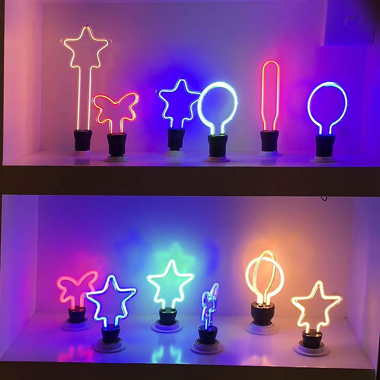 Yafido Dekorative Gl/üHbirne Kreativ LED E27 Gl/üHbirne 4W 4 Farben Dekorative Atmosph/äRe Lampen f/üR Hochzeit Weihnachten Haus Restaurants Bar Party Stern