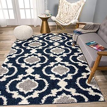 Amazon Com Large 8x11 Black Modern Rugs For Living Room