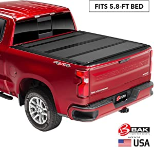 "BAK BAKFlip MX4Hard Folding Truck Bed Tonneau Cover | 448130 | Fits 2019-20 New Body Style GM Silverado, Sierra 1500, Will not fit Carbon Pro Bed 5'8"" Bed"
