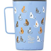 S'ip by S'well 21415-B19-23540 Takeaway Mug, 15oz, Purrfect Morning