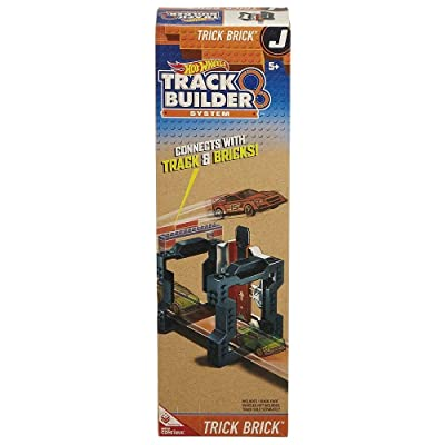 Hot Wheels Track Builder Trick Brick Accessory (J) Connects to Mega Construx: Toys & Games