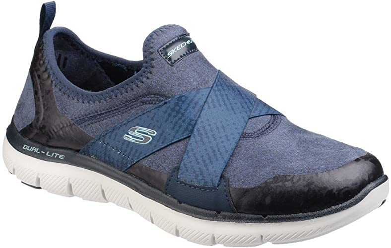 NEW SKECHERS Women Sneakers Trainers Comfort FLEX APPEAL 2.0-SOFT SHOCK Blue
