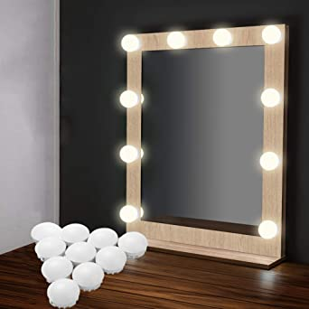 EEIEER Kit Lumiere LED Miroir Hollywood Vanity Mirror Light 10 De Vanit