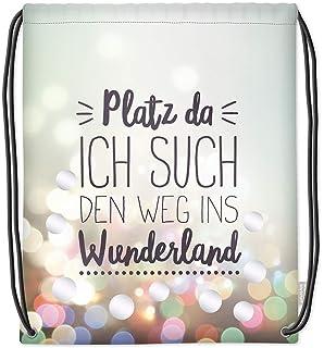 Turnbeutel Platz da ich such den Weg ins Wunderland Beutel Tasche Baumwolle