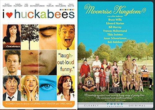 Comedy Double Feature Moonrise Kingdom + I Heart Huckabees DVD Set Films 2 pack bundle