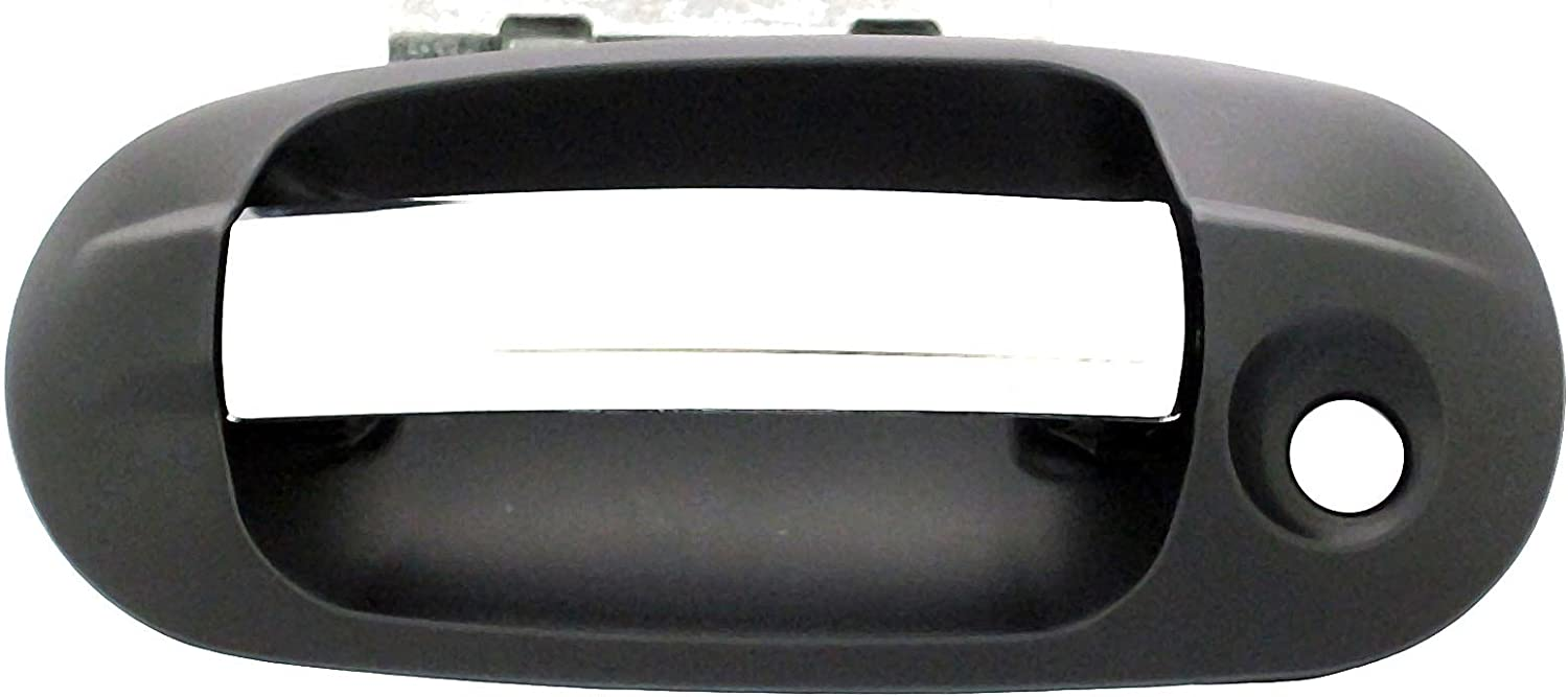Black and Chrome Dorman 82521 Front Driver Side Interior Door Handle for Select Cadillac Models