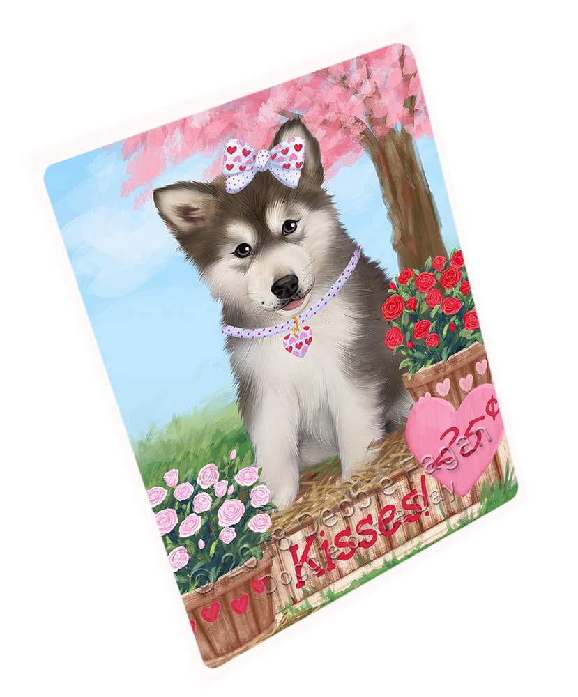 Doggie of the Day Rosie 25 Cent Kisses Alaskan Malamute Dog Blanket BLNKT127128 (50x60 Sherpa)