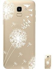 HopMore Funda Samsung Galaxy J6 2018 Silicona Transparente Motivo Design TPU Gel Ultrafina Slim Case Antigolpes Caso Protección Flexible Cover - Diente de león