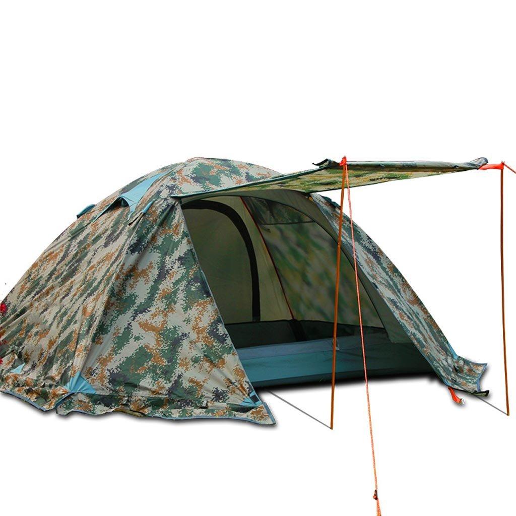 Zelt LINGZHIGAN Outdoor Double Aluminium Rod Camping Camping Sonnenschutz Feld Regensturm