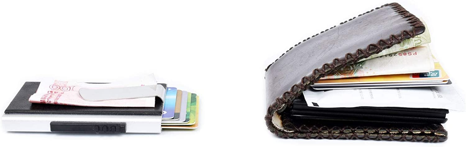 Credit Card Holder RFID Blocking//Automatic Pop-up//Soft PU Leather//Minimalist and Practical Card Holder for Men and Women
