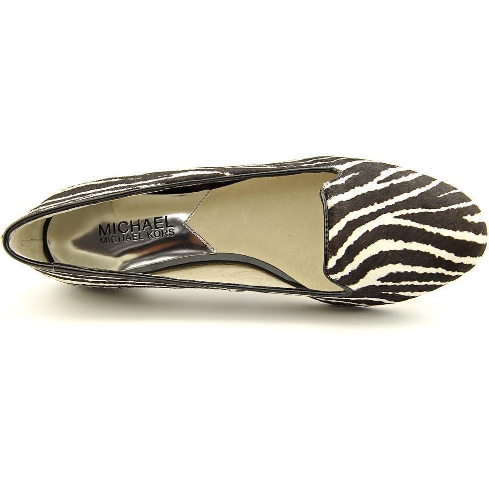 73fc344def04 Amazon.com | Michael Michael Kors Women's Ailee Studded Flats Black White Hair  Calf (9.5) | Flats