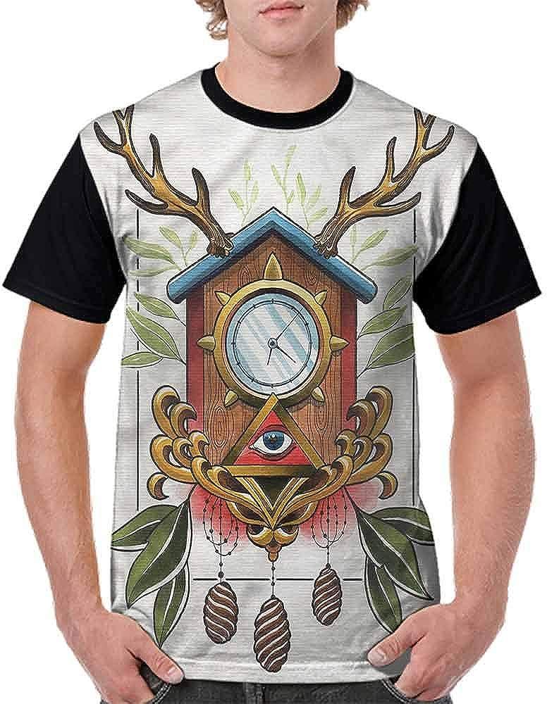 Vintage T-Shirt,Tribal Motifs Fashion Personality Customization