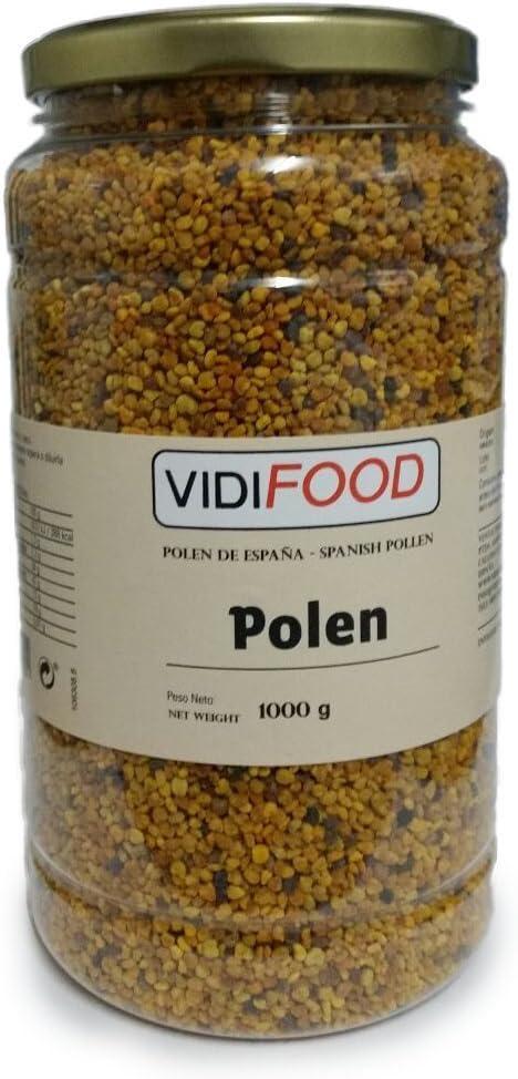 Polen de Abeja Natural en Grano - 1kg - Producto de España - Ayuda para cuidar su salud y perder peso - Altamente Nutritivo - Incrementa la energía, combate la fatiga y