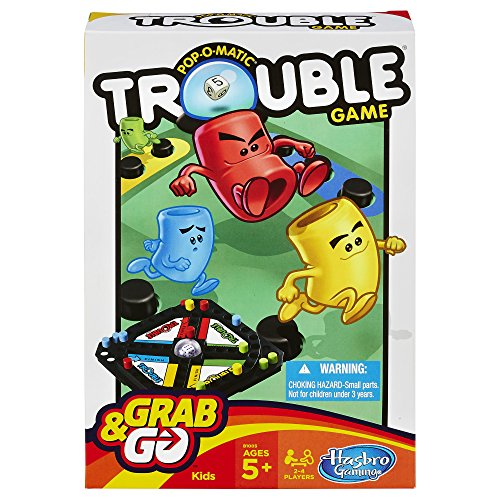 Pop-O-Matic Trouble Grab & Go Game (Travel Size) (Travel Kids Games)