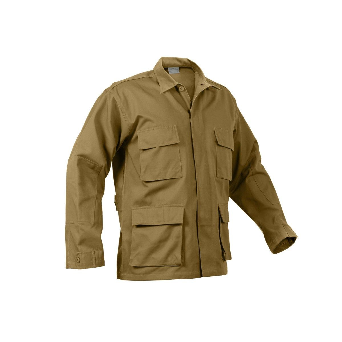 Rothco Bdu Shirt, Coyote, Large by Rothco