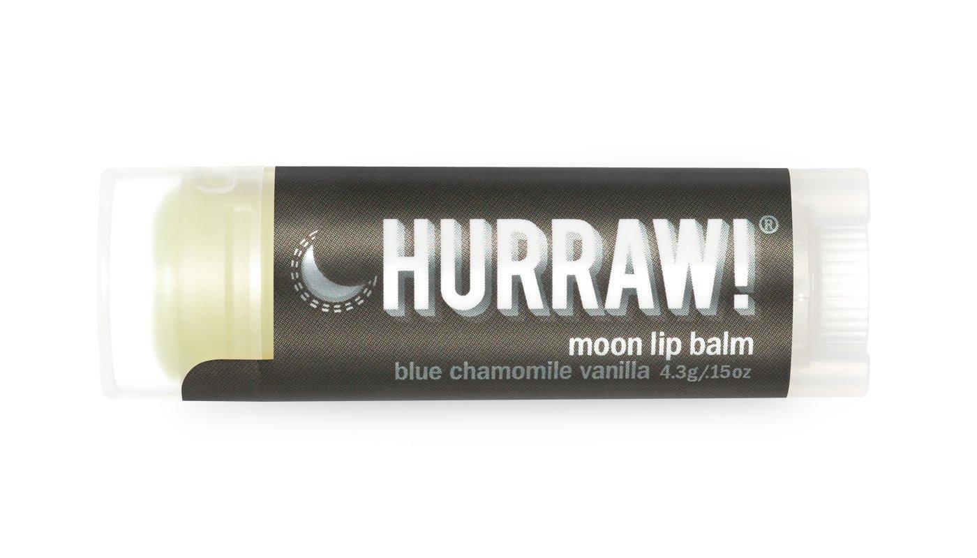 Moon Hurraw! Lip Balm: Night Treatment, Organic, Certified Vegan, Certified Cruelty Free, GMO Free, Gluten Free, All Natural – Luxury Lip Balm Made in the USA – MOON