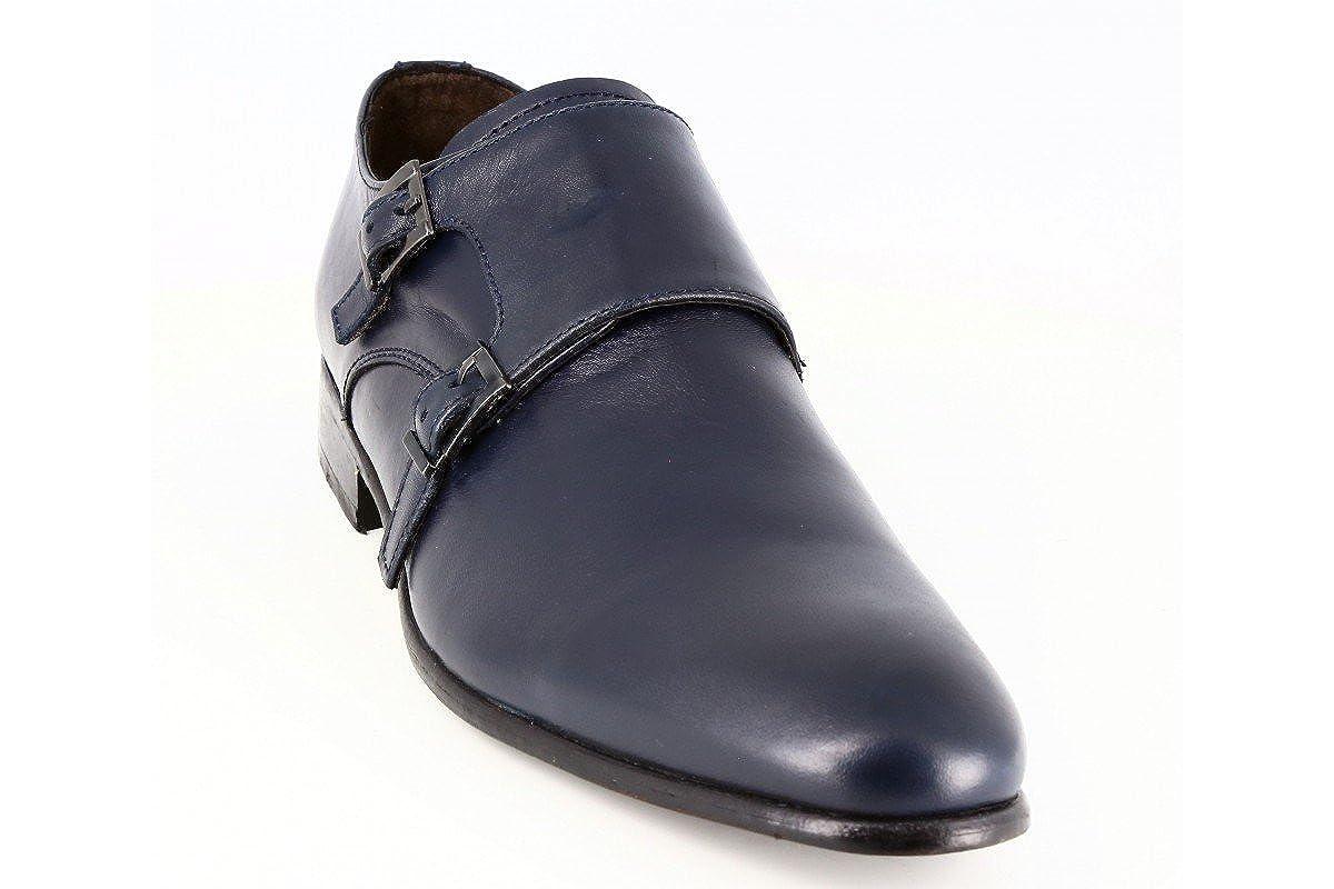 d3f3399cf62 belym Chaussures Homme De Ville en Cuir Bleu Marine  Amazon.fr  Chaussures  et Sacs