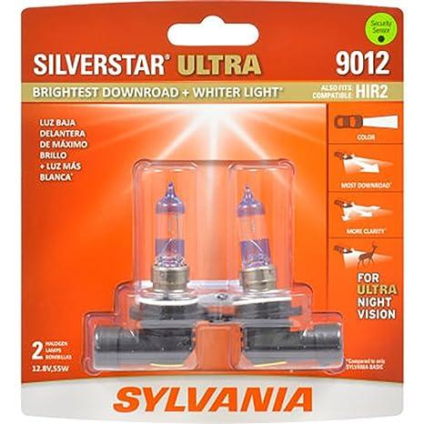 Sylvania 9012 Silverstar Ultra halógena faros delanteros, (contiene 2 bombillas)