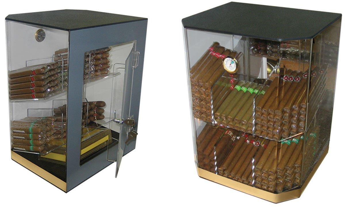 Prestige Import Group - The Franklin Acrylic Humidor Display - Capacity: 150
