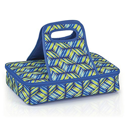 Geo Weave Insulated Casserole Carrier Travel Carry Bag