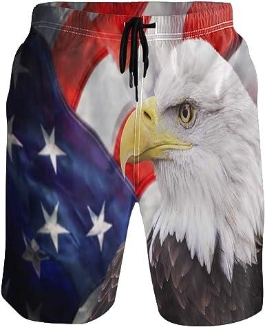 BIGJOKE - Bañador para Hombre con diseño de águila y Bandera de Estados Unidos: Amazon.es: Ropa y accesorios