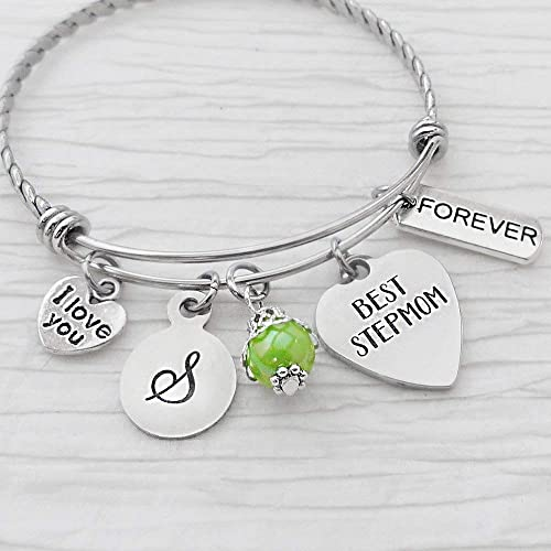 Stepmother Gifts Personalized Stepmom Bangle Bracelet Best Stepmom I love you Bracelet Initial Letter Forever Charm Gifts for Step mom Christmas Gifts  sc 1 st  Amazon.com & Amazon.com: Stepmother Gifts Personalized Stepmom Bangle Bracelet ...