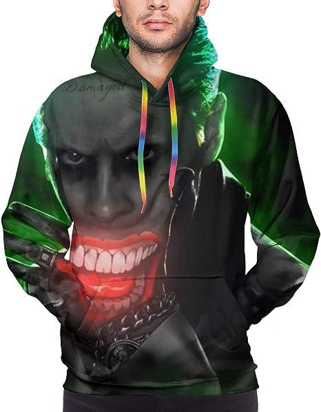 Joker Dark Knight Green Men's Hoodie 3D Print Pullovers Tops Sweatshirt -