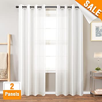 Charmant Faux Silk White Curtains For Bedroom Dupioni Window Curtain For Living Room  84 Inch Length Satin