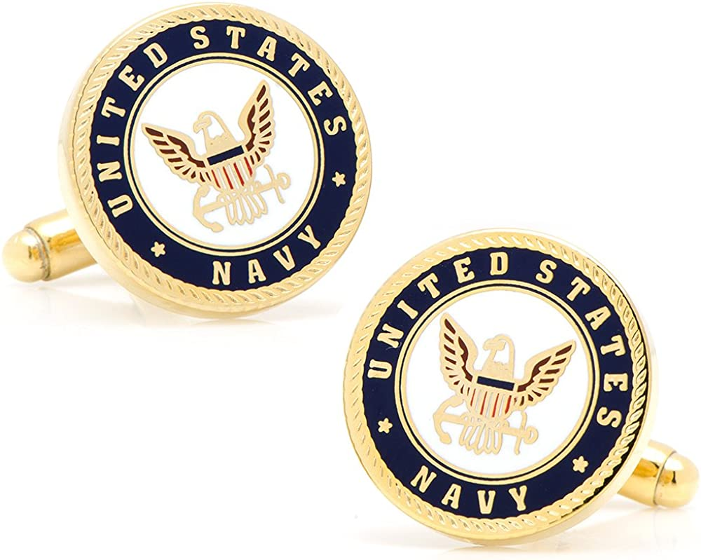 Cufflinks Inc. Mens Enamel US Navy Cufflinks