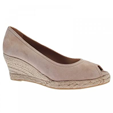 bc0bb7192a80d Castell Women's Peep Toe Wedge Court Shoe 4 Beige: Amazon.co.uk ...