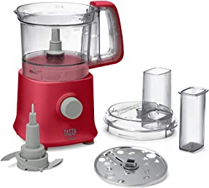 Tasty By Cuisinart MP300TRD Mini Food Processor, Red, 4 Cup