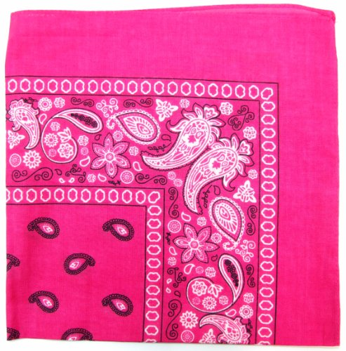 sley Cotton Bandanas (Hot Pink, 22 X 22 in) ()