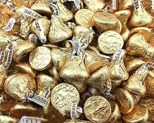 Hershey's Kisses Creamy Milk Chocolate Gold Wrapping 4 Pounds by HERSHEY'S