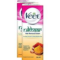 Veet Nikhaar Hair Removal Cream for All Skin Types - 25 g (Pack of 2)