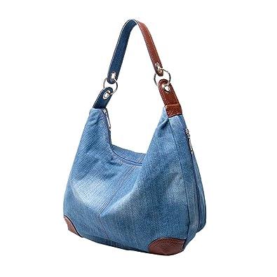 Ichic Boutique Damen Mädchen Handtasche Schultertasche Jeans Tasche Umhängetasche Shopper