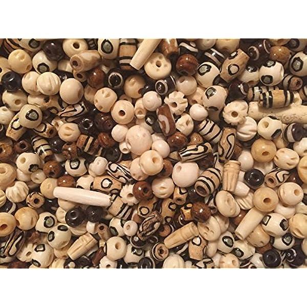Bulk Beads bone Round Bead Lot Ox Smooth Bone PowWow Buffalo 14lb 10-15mm White Bone Bead Mix Jewelry Supplies 4oz Native Tribal