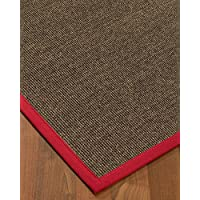 NaturalAreaRugs Shadows Sisal Area Rug 2.5 by 8 Red Border