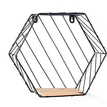 Xuanlan Regal Wand Lagerregal Einfache Hexagon Dreischicht