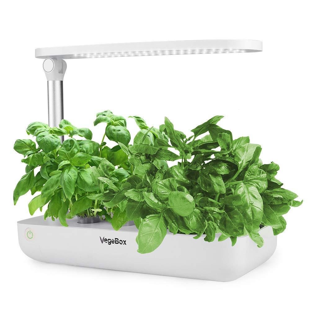 Hydroponics Growing System,Support Indoor Grow,herb Garden kit Indoor, Grow Smart for Plant, Built Your Indoor Garden (Small-White) by VegeBox