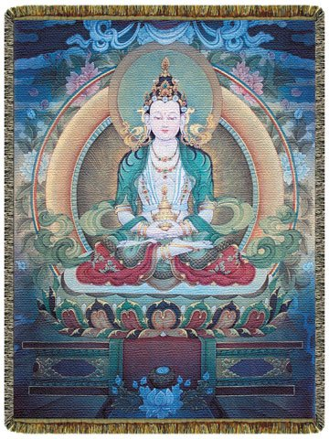 The Amithaba Buddha Tapestry Throw