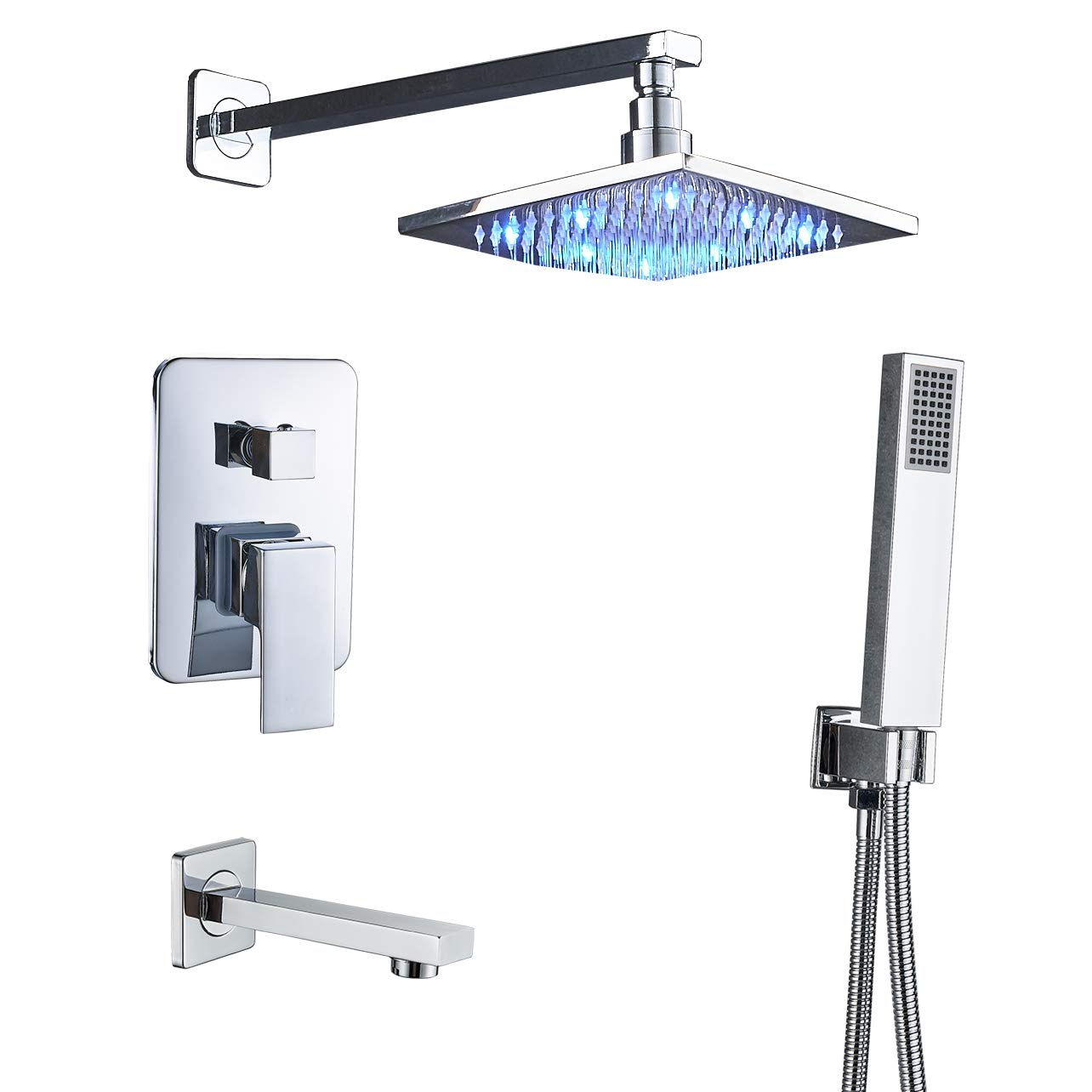 garden faucet Home & Garden Shower Faucet Combo Set 20 Inch LED ...
