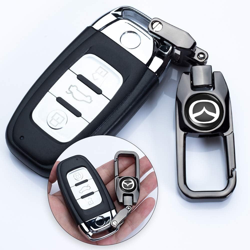 HEY KAULOR 5 Pcs Tire Valve Stem Caps for Mazda 3 Axela 6 ATENZA MX-5 CX-3 CX-4 CX-5 with Key Chain Styling Decoration Accessories