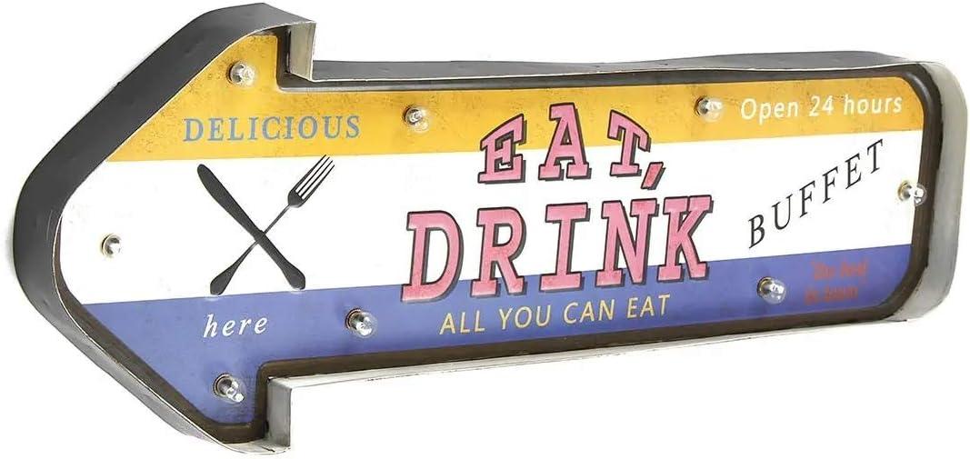 Inicio Bar Letrero de madera Personalizada muestra del LED del metal de chapa por retro placa de Poster Bar Pub Wall restaurante Casa Comprar Decoración Decoración del hogar del porche