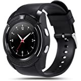 Bingo C6 Black Smart Watch With Sim Card Support Or Bluetooth Connectivity And Many Impressive Features Which Is Compatible With Android IOS Device