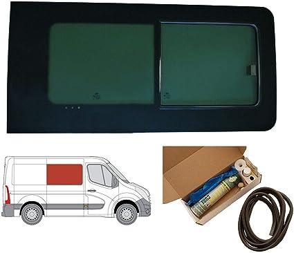 Mano derecha, tintado oscuro apertura ventana para Panel lateral OPP. Puerta Corredera Para Opel Movano (2010 ON) [L2, L3, L4]: Amazon.es: Coche y moto