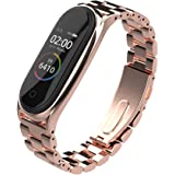 Pulseira extra de aço para Xiaomi MI Band 4 - New version (Rose Gold 3 elos)
