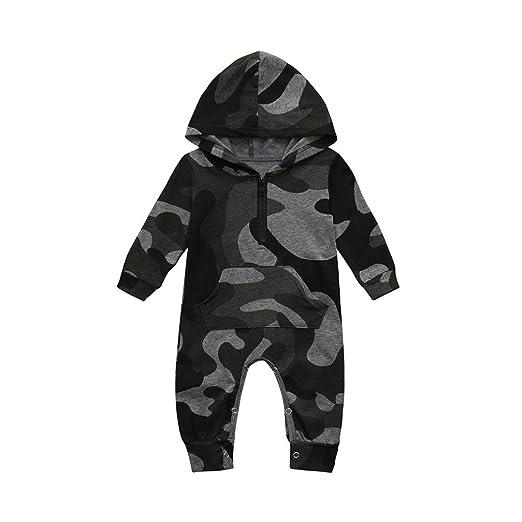 512375ae9ebc Amazon.com  Winsummer Newborn Baby Boy Girls Camouflage Hoodies ...